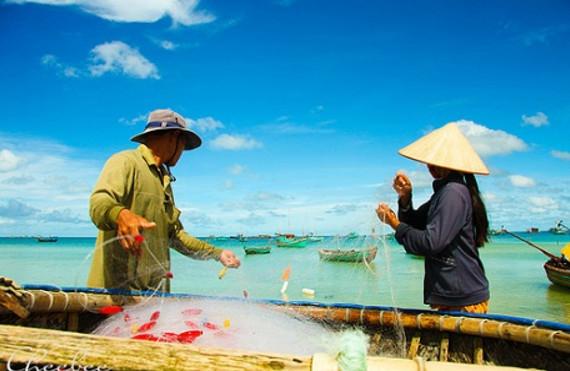 Hình ảnh ngư dân đánh cá